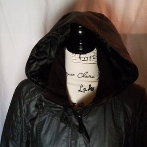 Vince Camuto belted nylon jacket